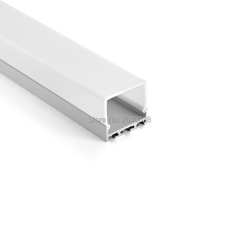 100 X 2M Sets/Lot Top selling led profile light 27mm deep cover U style led aluminium profile housing for suspending lights