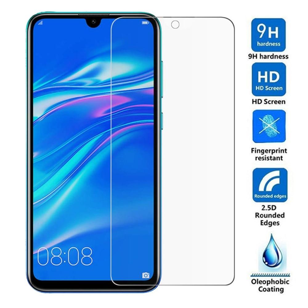 2 piezas de vidrio templado para Huawei Honor 10i 8A 10 Lite 8C 8X Play P20 P30 Pro P Smart 2019 Protector de pantalla de película protectora