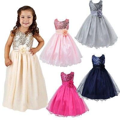 New Hot-venda Formal de Festa Da Princesa Do Bebê Meninas Flor Grande Arco Sólido Brilhante Lantejoulas Vestido de Festa Vestidos Vestido 2-10Y