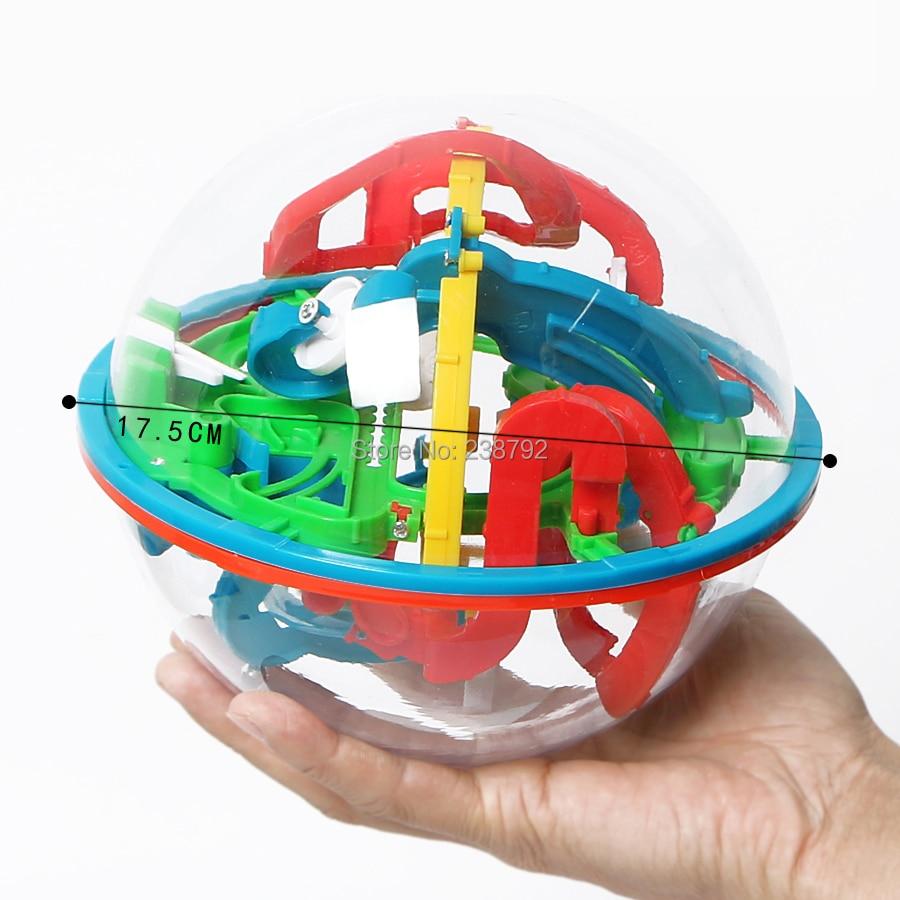 Intellekt Labyrinth Maze Ball, 118 Herausforderung Barrieren, Magie Labyrinth Puzzle-Spiel, Raum Training Pädagogisches IQ Balance Spielzeug