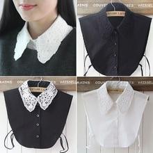 Chemise faux col blanc et noir   Cravate, Vintage col détachable, faux col, Blouse à revers, Top femmes accessoires vêtements