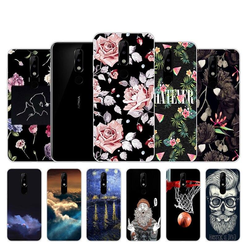 Мягкие чехлы для мобильных телефонов из ТПУ для Nokia 5,1 Plus, чехлы для Nokia 5,1 Plus, прозрачный силиконовый чехол для Nokia5.1 Plus