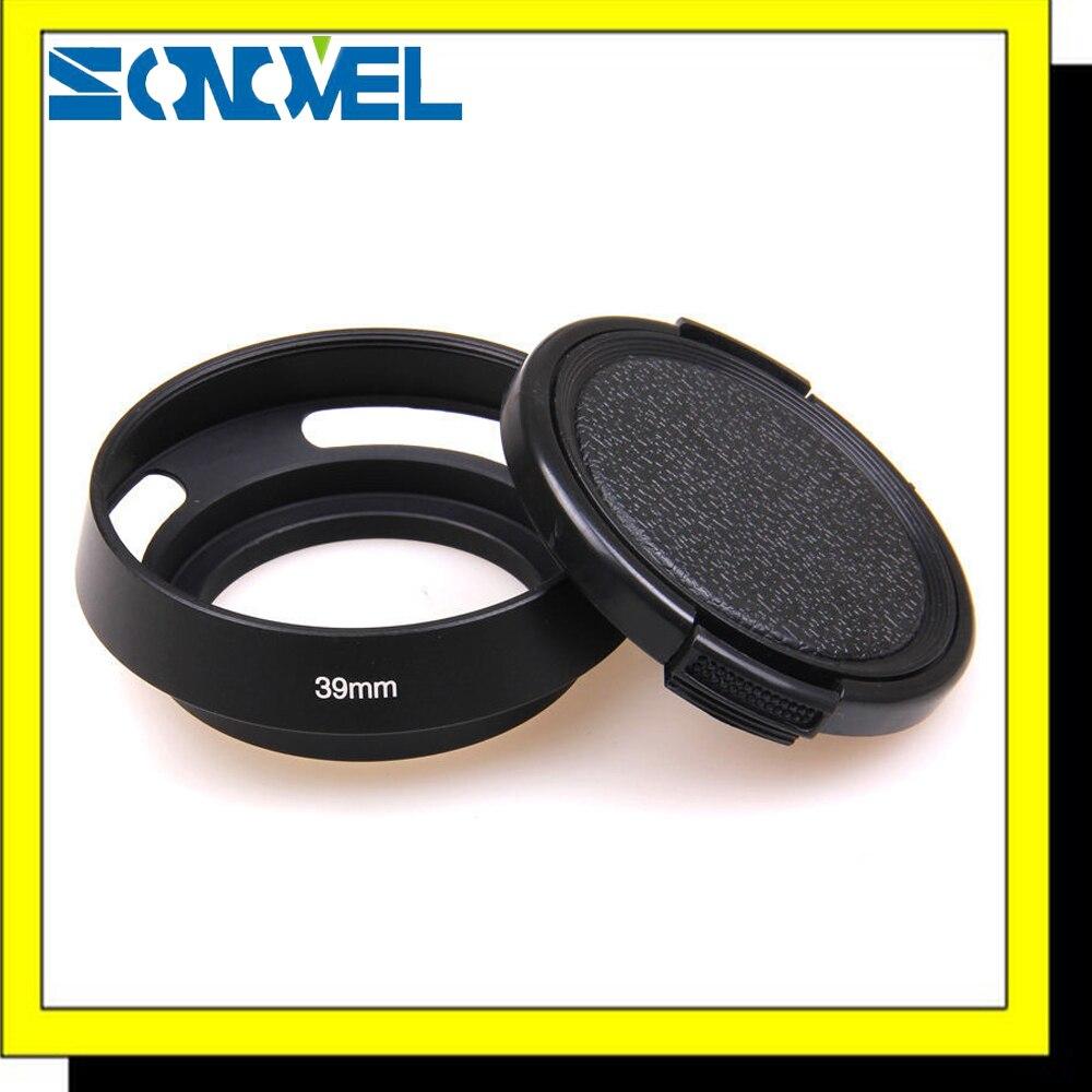 39 мм металлическая наклонная бленда объектива + крышка объектива для Leica M Contax Fujifilm Zeiss Olympus Panasonic Canon Sony Nikon