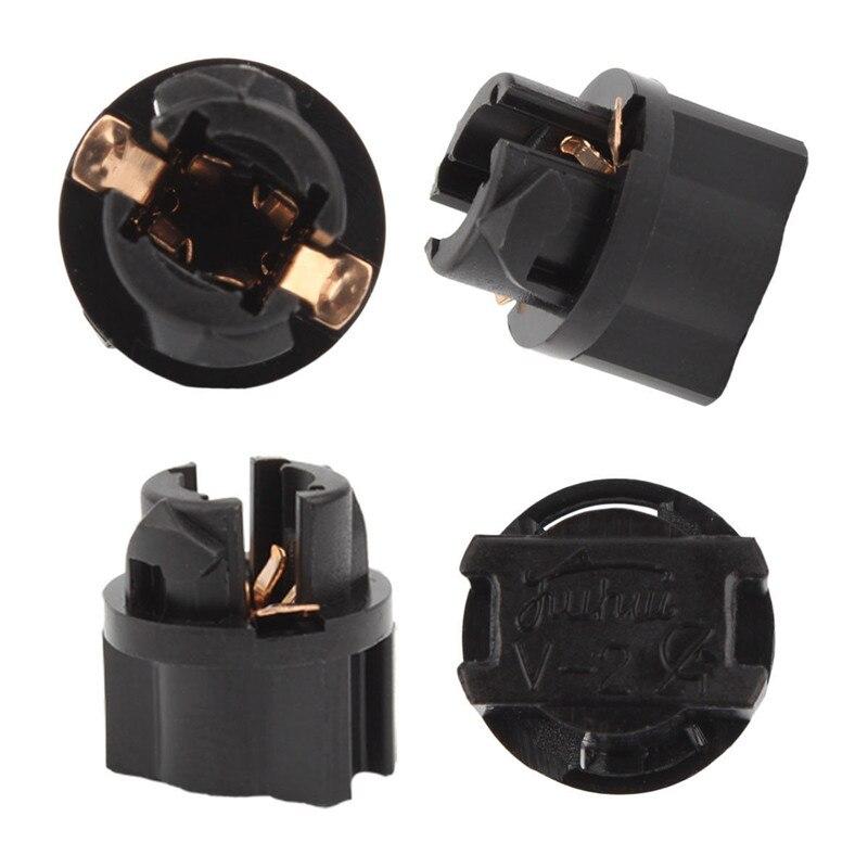 Nuevo 10 Uds Super brillante bajo consumo T5 LED Twist Socket PC74 Panel de instrumentos clúster conector de repuesto portalámparas #294310