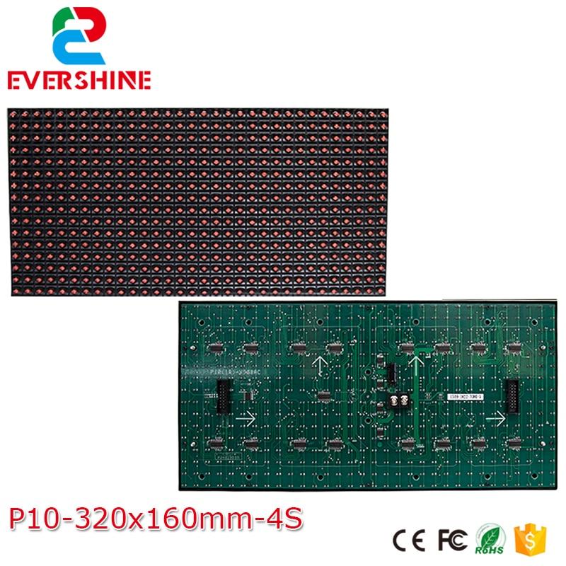 10mm DIP P10 Semi-exterior 1R solo Color 320*160mm 32*16 píxeles LED pantalla módulo hecho a medida, led Tablero de muestra