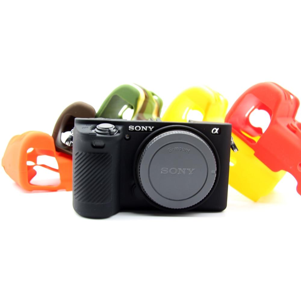 Weiche Silikon Tasche Kamera Schützen Fall Für Sony A6500 A6300 A6000 A5000 A5100 RX100 III Anti-skid Textur Design körper Abdeckung Fall
