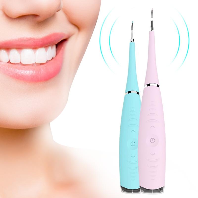 Отбеливание зубов пятновыводитель зубного камня зубные пятна Масштабирование инструменты USB зарядка ультразвуковой ирригатор для зубов Очищающая машина