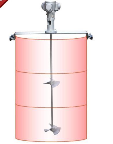 50 جالون الهوائية خلاط لوحة أفقية رونغ مخدر خزان برميل سبائك الألومنيوم