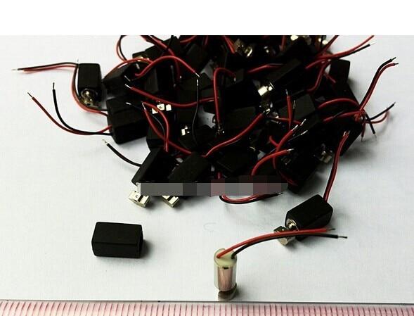 Free shipping 500pcs Mini pager Vibrating Vibrator Micro mobile Motor 4mm x 8mm Vibration Pager Motor diameter 4mm 7x25mm micro waterproof vibration motor coreless motor mini dc vibrator motor professional massager motor