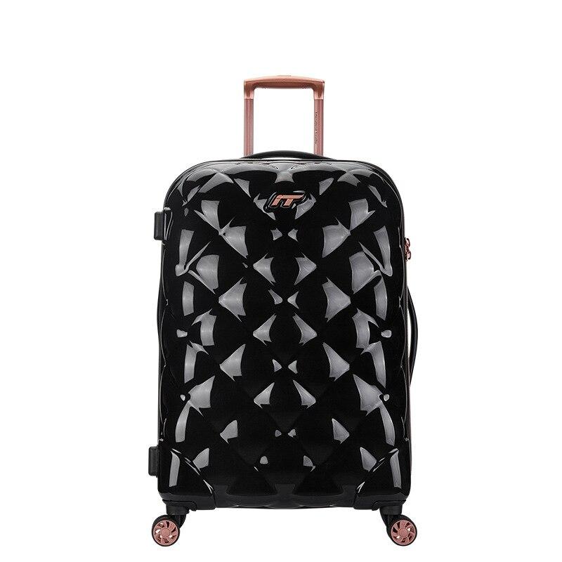 Maleta con ruedas para mujer, modelo Lingge, 24 pulgadas, 29 pulgadas, Maleta de embarque ultraligera, Maleta de equipaje, oferta, bolsos valise