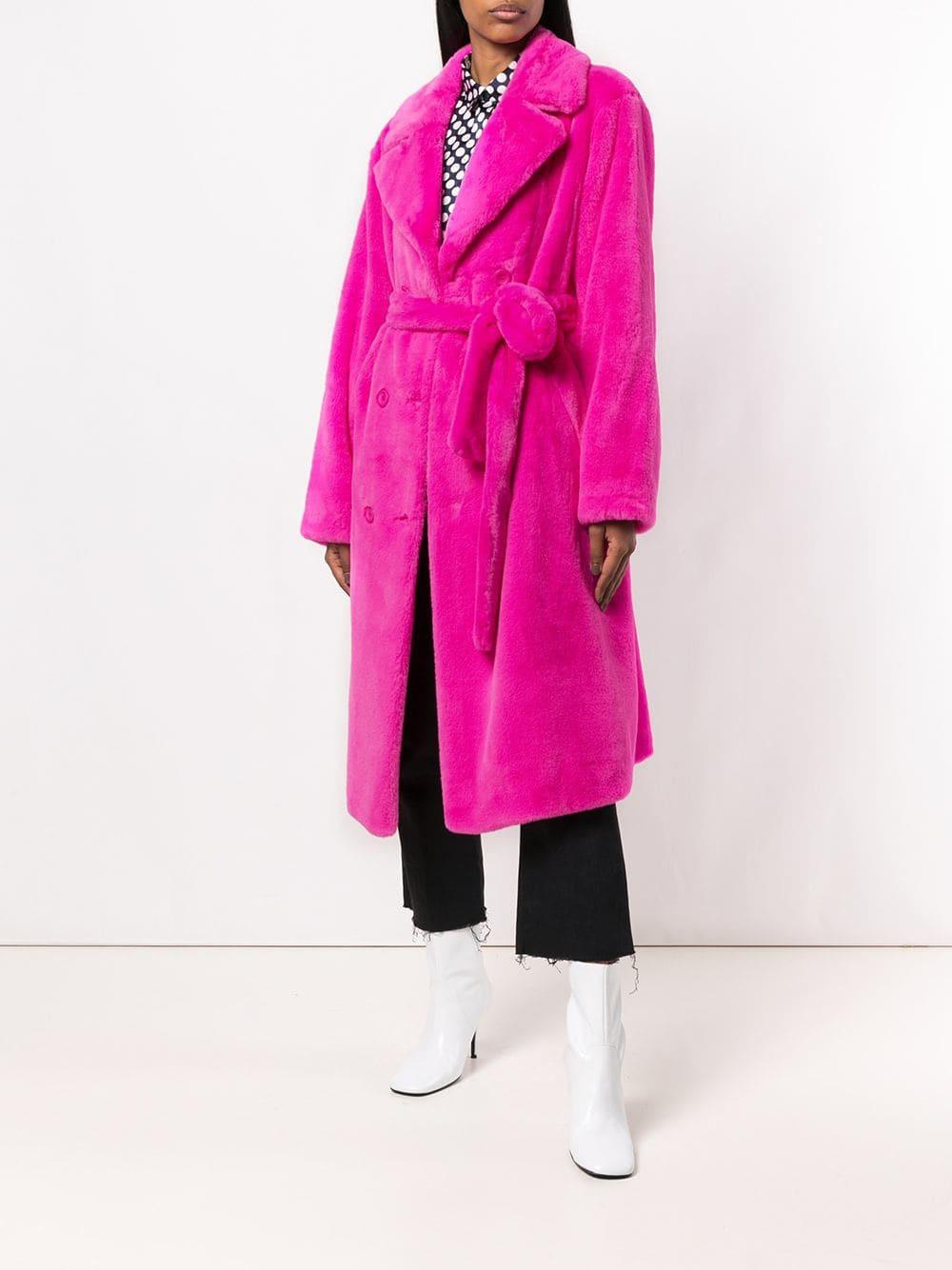 Long Women Coat Sexy Night Club Celebrity Fashion Party Faux Fur Coat Winter Warm Women Outwear