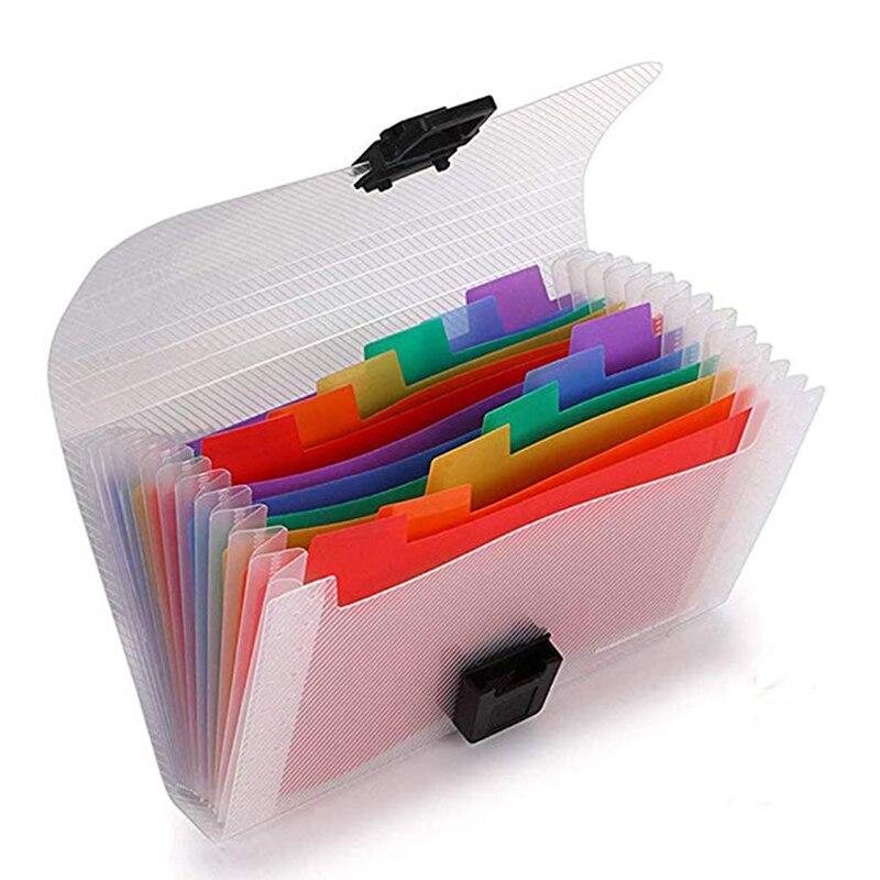 EKIND 7x4,5 carpeta portátil extensible de acordeón, organizador de archivos de acordeón de 13 bolsillos, carpeta de plástico A6 Mini carpetas de expansión