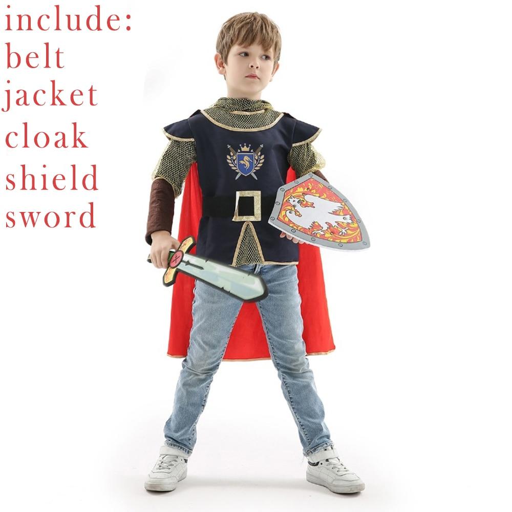 Фантазийный костюм для детей рыцарь воин принц средневековый новогоднее платье