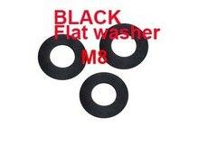 Wkooa-lave-linge plat M8   DIN125A qualité 8.8, lave-linge en acier au carbone noir 1000 pièces