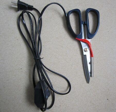 1 قطعة الكهربائية التدفئة خياط مقص الطاقة حار المقصات سكين ساخنة القلم مؤشر العمل لقطع القماش