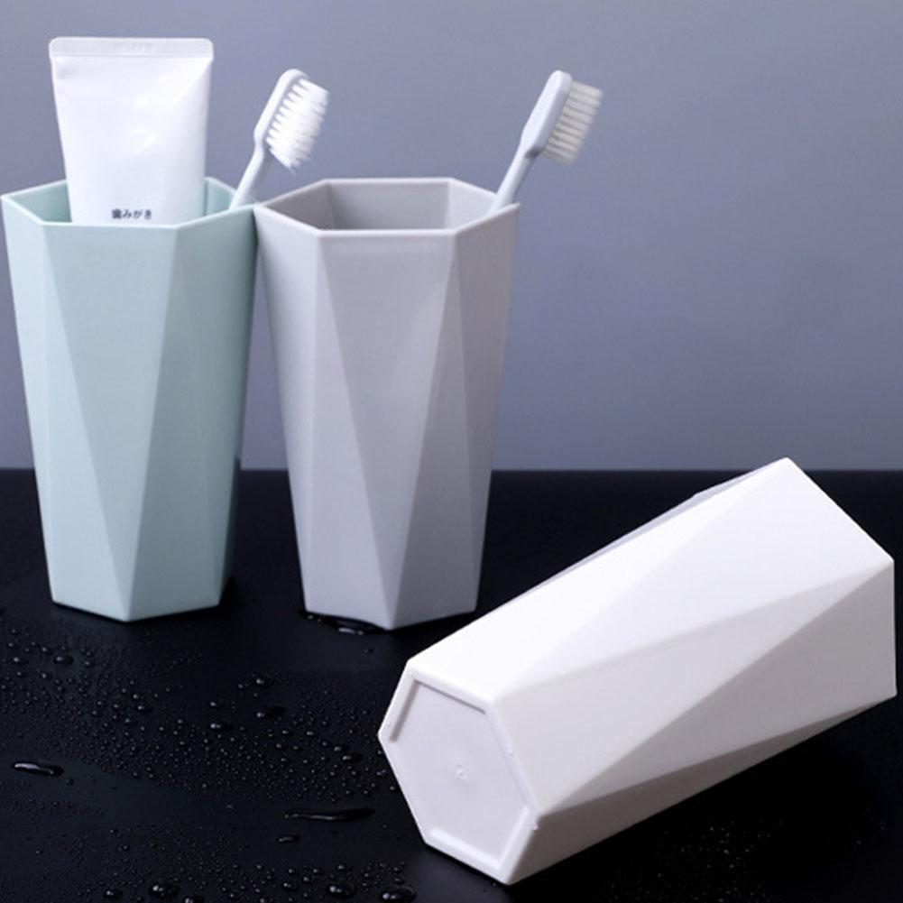 Simples nordic viagem portátil conjuntos de copo de lavagem do banheiro titular escova de dentes de plástico boa manhã escova de dentes armazenamento organizador copo