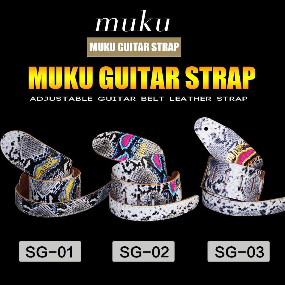 MUKU Electric Bass Guitar Straps / Thres Styles of Belts Straps for Your Choice / Bass Guitar Parts Accessories enlarge