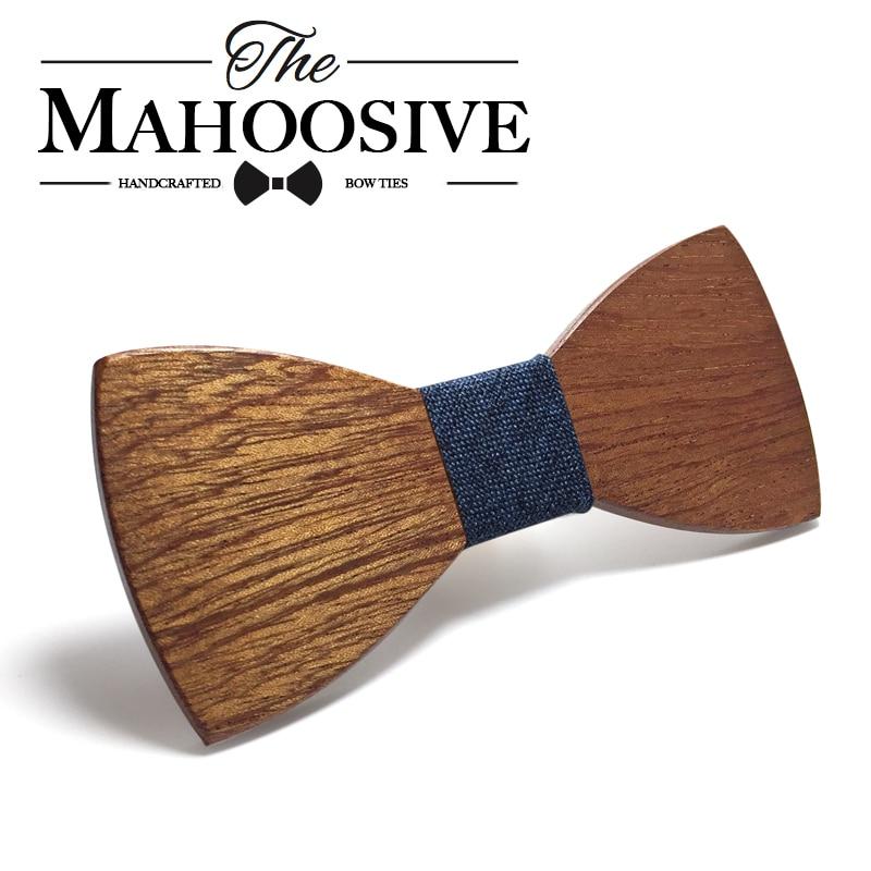 Mahoosive дерево галстук-бабочка Для мужчин S деревянный лук Галстуки Gravatas corbatas Бизнес бабочка галстук партии Галстуки для Для мужчин Дерево Гал...