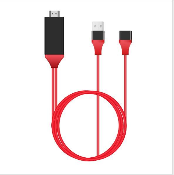 Usb 1080 do adaptador de cabo do av hdmi hdtv de 2.0 p digitas ao conversor de hdmi para a iluminação tipo-c micro 5 pinos ipad iphone iso android L7-5