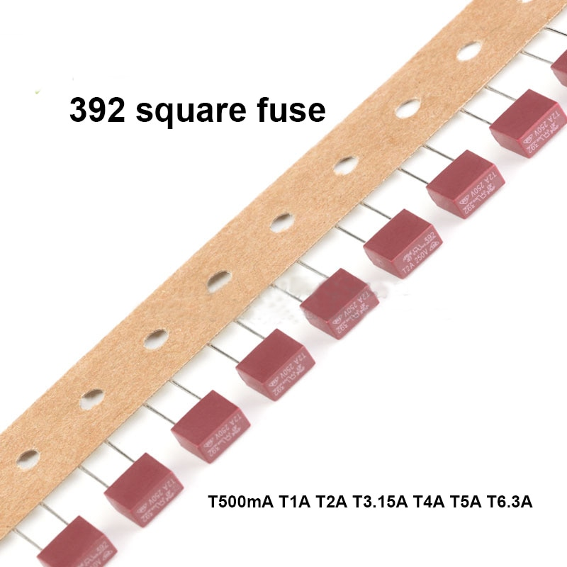 Envío gratis 10pc 392 fusible 250V lento romper fusible T500mA T1A T2A T3.15A T4A T5A T6.3A