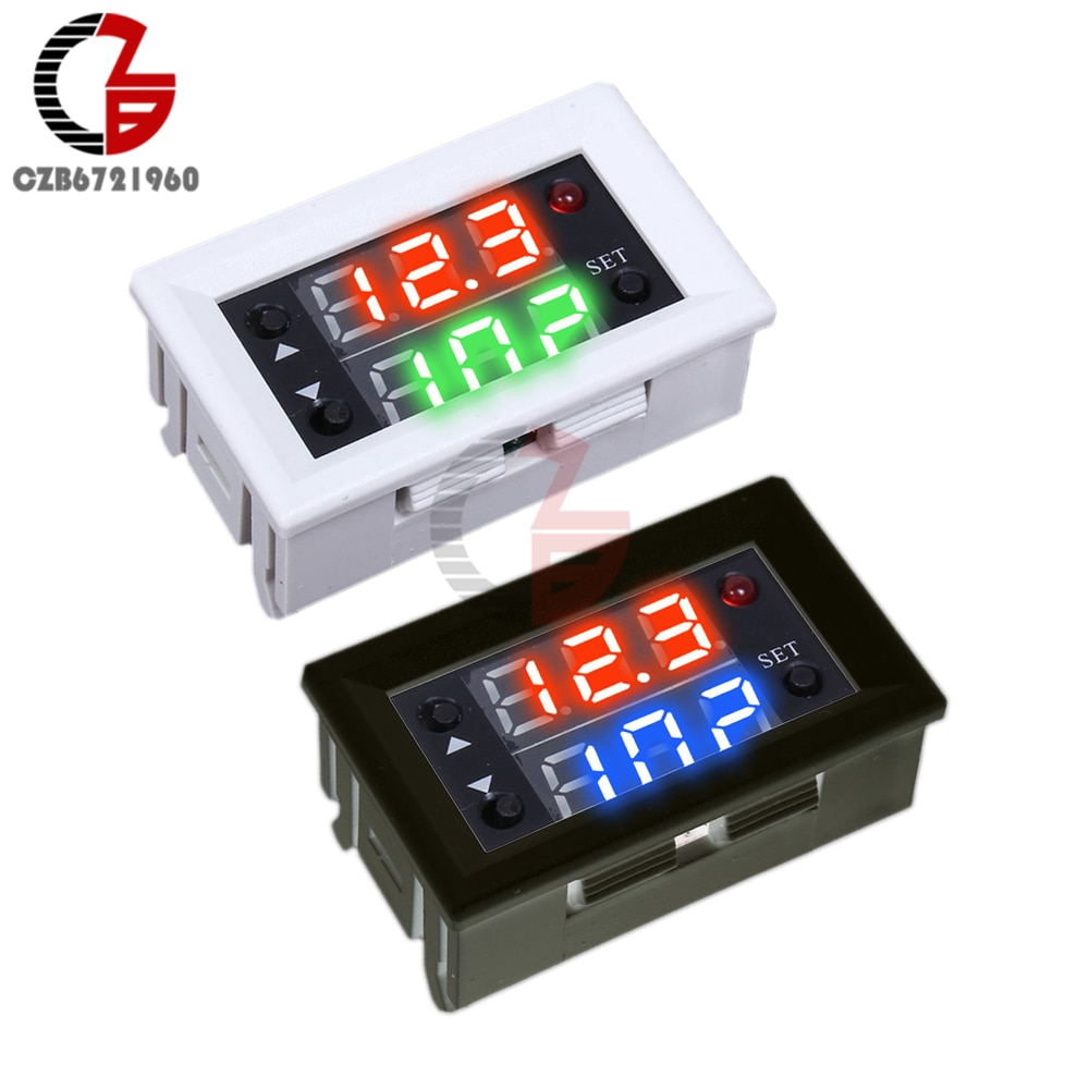 Dual Display Time Relay Module DC 12V Time Delay Relay Mini LED Digital Timer Relay Timing Delay Cyc