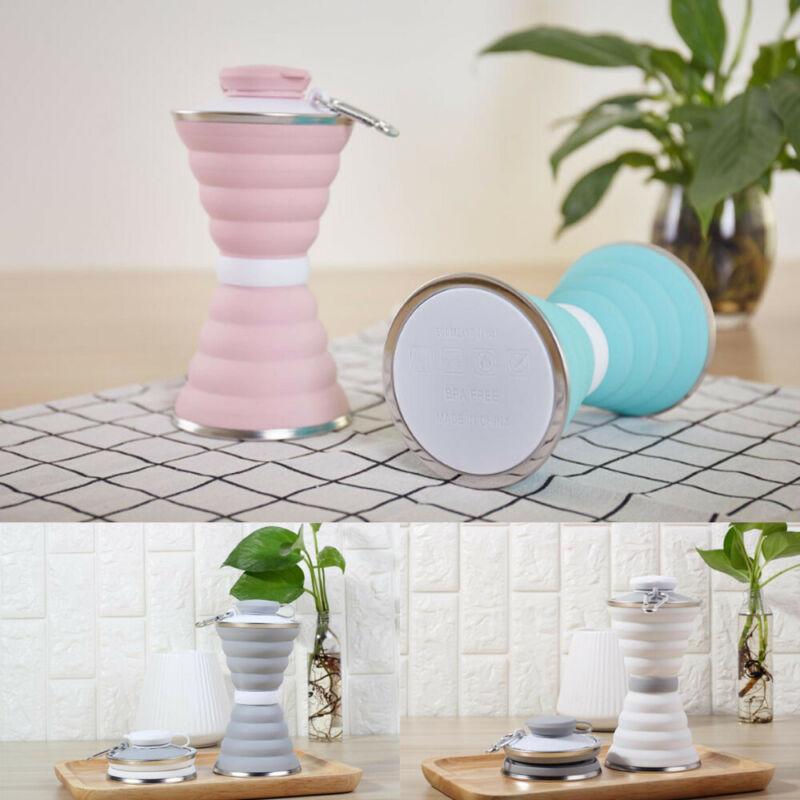 Botellas de agua plegables creativas de silicona de 500ML para deportes, bebidas, Camping, viajes, mi botella plegable de ciclismo, taza de café