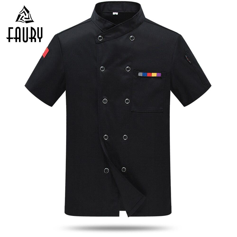 Uniforme de restaurante Unisex, camisa de Chef, chaqueta, abrigo, servicio de comida, Hotel, cocina, servicio de comida, cafetería, barbería, pastelería, ropa de trabajo