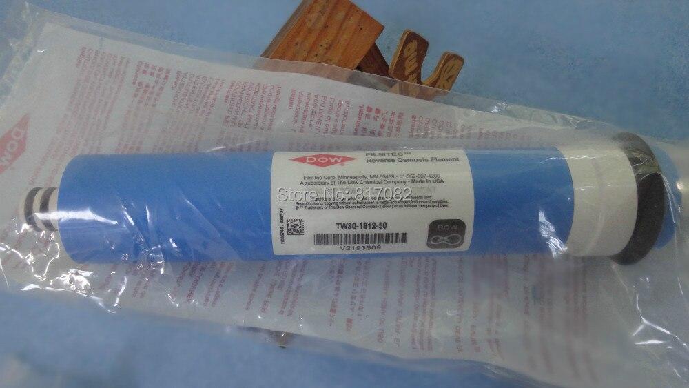 Na venda TW30-1812-50 50 DOW FILMTEC gpd membranas de osmose reversa para filtro de água