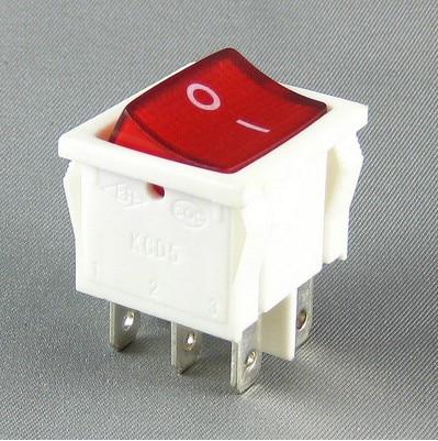 Barco interruptor KCD5 22N 6-pin interruptor de potencia de la cáscara blanca de la luz roja