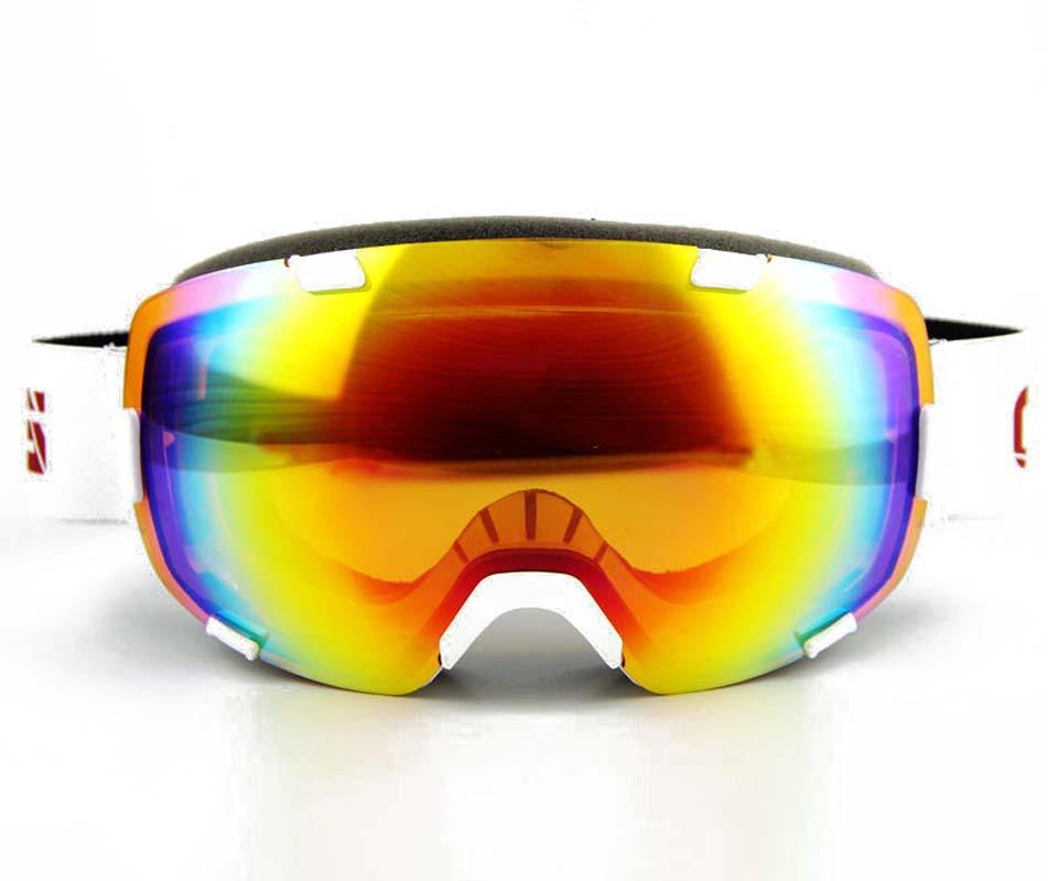 Profesional Esquí de la Nieve Snowboard Gafas de Esquí Gafas de Esquí Gafas de Invierno Doble Doble Arco Iris de La Lente UV400 Marco Anti-vaho Polvo