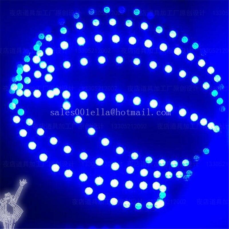 Nova Bule Cor Luminosa LED Luz Crescente Up Capacete Capacete Robô Pode Mudar As Cores do Dia Das Bruxas/Bar/KTV LEVOU Ternos robô Headwear