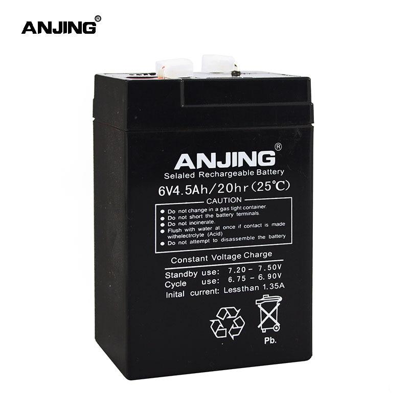 6V 4.5AH Battery 6V 4.5AH for Backup Power LED emergency Light Children Toy Car Lead-acid Accumulator Replacement Maintenance