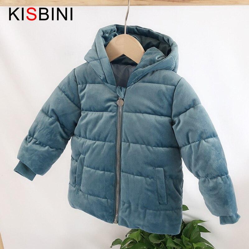 KISBINI-جاكيت شتوي بغطاء للرأس وسحاب للأطفال من سن 1 إلى 5 سنوات ، سميك ، للأولاد والبنات ، 2020