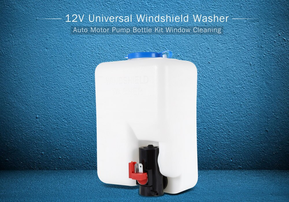 Nuevo Kit de botella de lavado Universal de parabrisas de coche de 12V con interruptor de botón de chorro de bomba