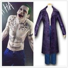 Gratis Verzending Film Suicide Squad Jared Leto Joker Cosplay Carnaval Kostuum Halloween Party Jassen Jas Broek Past