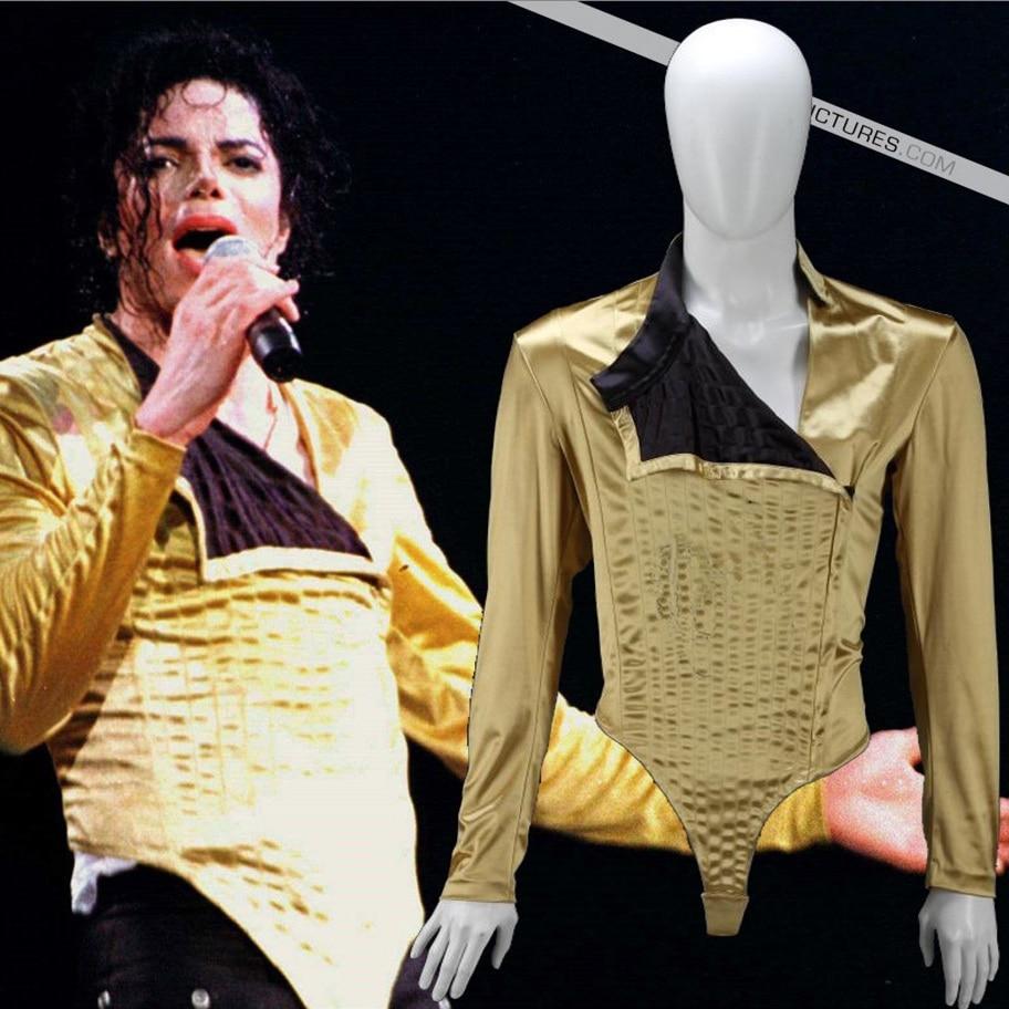 MJ Michael Jackson Jam BAD tour Nine-بنطلون أسود مستقيم بطول الكاحل بنمط فاسق