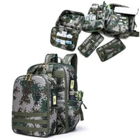 outdoor first aid kit large capacity sports camouflage nylon waterproof messenger bag family travel emergency bagdjjb039