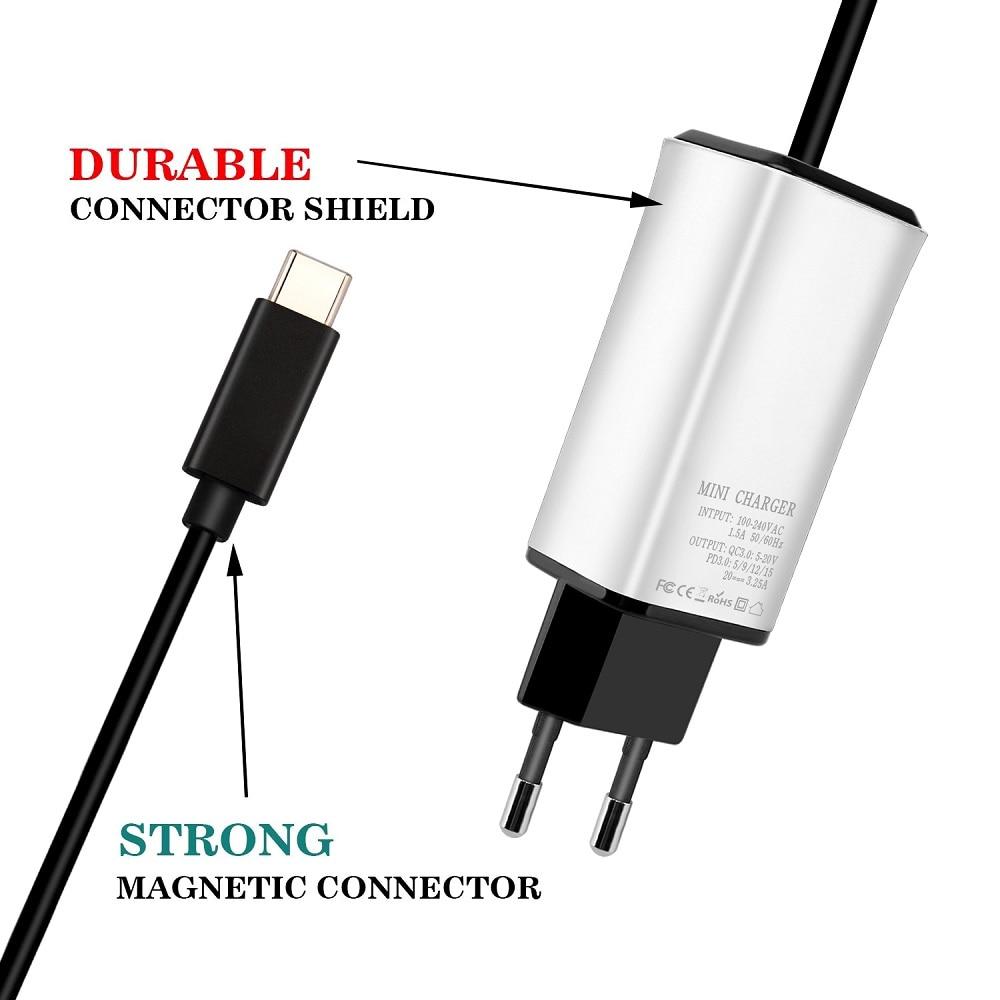 شاحن USB من النوع C 65 وات ، لمحول ASUS 3 Pro ، T303UA ، T303U ، T303 ، شاشة لمس 2 في 1 12.6 بوصة لـ Lenov ، hp ، dell ، macbo0k air
