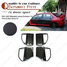 Car Accessories Carbon Fiber Door Kit Fit For 2001-2007 Mitsubishi Lancer Evolution 7-9 EVO 7 8 9 Front & Rear Doors