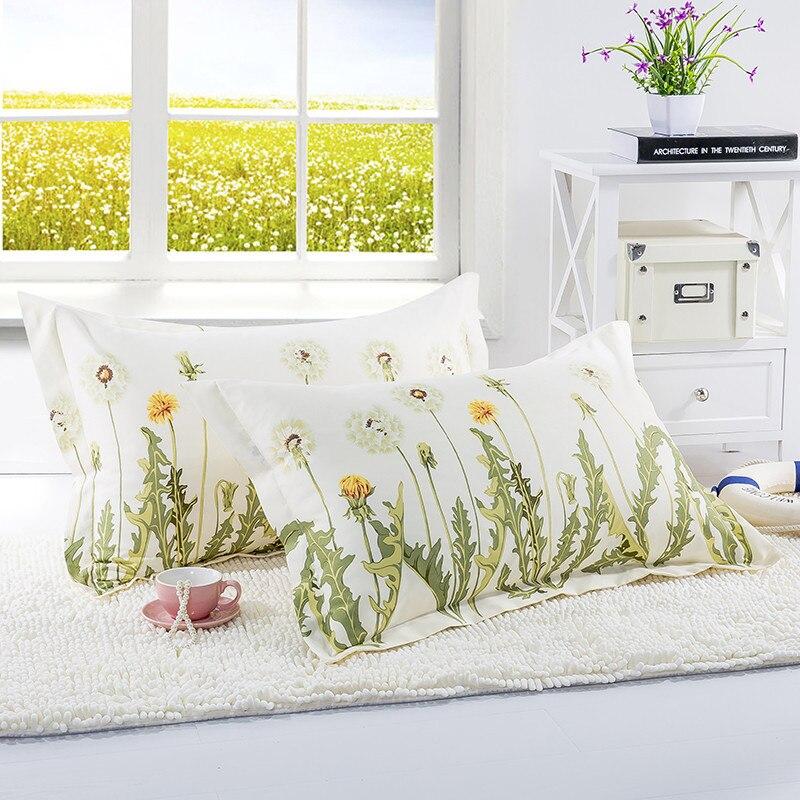 Funda de cojín estampada con diente de león de 480x740mm, funda de almohada 100% de poliéster liso de punto, funda de almohada para niños y adultos XF340-40 1 unidad