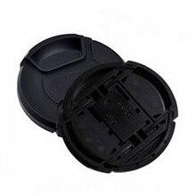 10 teile/los 49 52 55 58 62 67 72 77 82 86mm zentrum prise Snap-auf kappe abdeckung LOGO für canon nikon kamera Objektiv