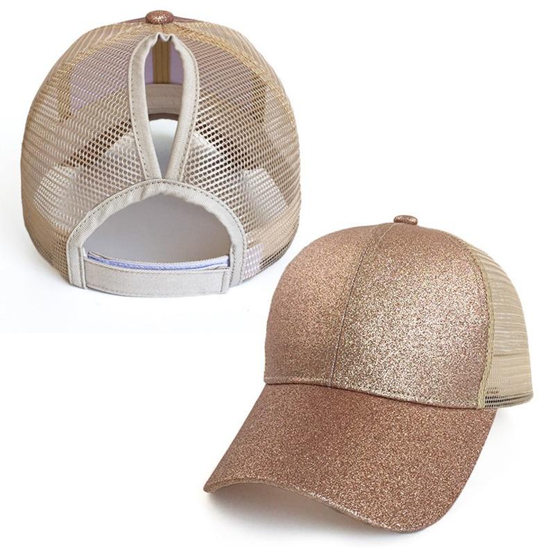 Женская бейсбольная Кепка модный конский хвостик, снепбек в пучок, летние сетчатые шляпы, повседневные спортивные кепки, женская кепка