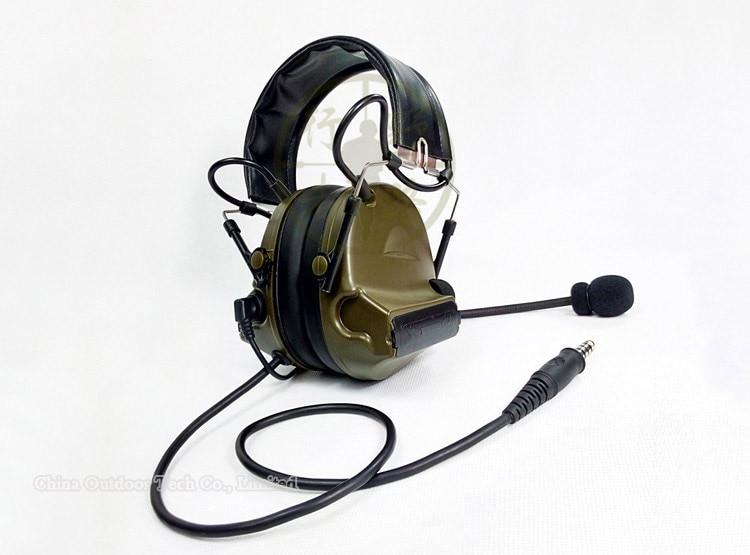 Tactical comtac ii Sordin auriculares reducción de ruido sonido electrónico Pickup micrófono militar Airsoft auriculares ii Z041 42 111