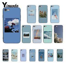 Yinuoda mavi pembe estetik şarkı sözleri estetik telefon kılıfı için iphone SE 2020 X XS MAX 6 6s 7 7 artı 8 8 artı 5 5S SE XR