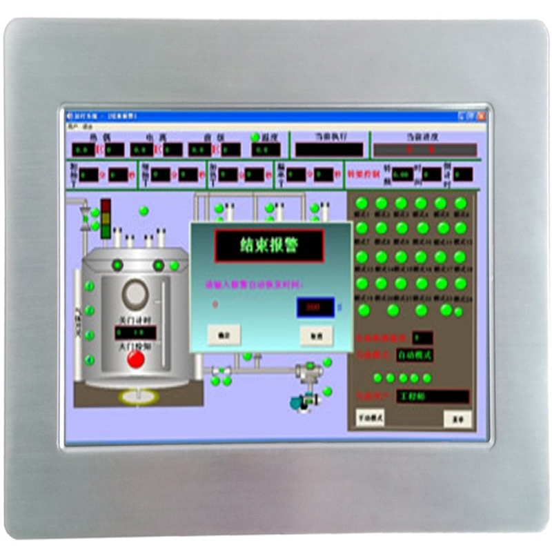 High Brightness 10.1 inch panel computer with Fanless IP65 waterproof Touch Screen Embedded Industrial Tablet PC