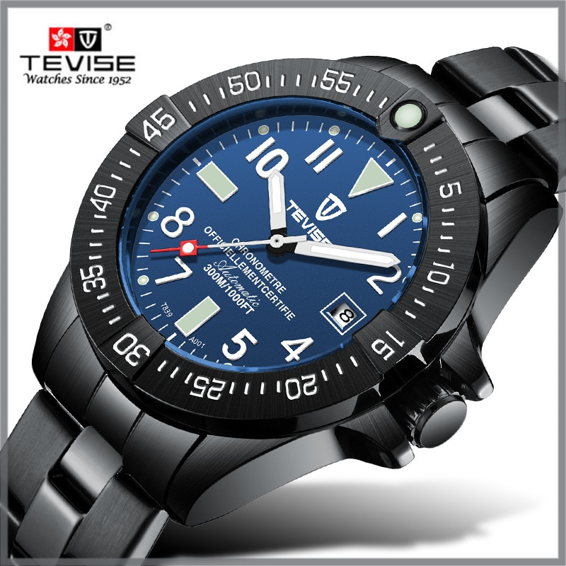 TEVISE T839A Watch Men Brand Automatic Watch Luminous Hand Business Mechanical Watch Waterproof Stai