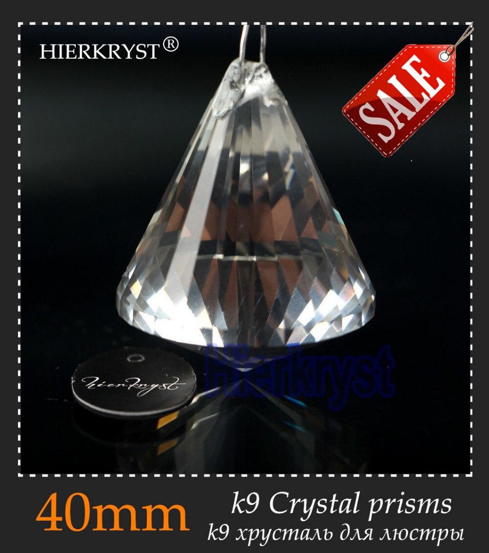 "Hierkyst 10 pcs vidro K9 de cristal prismas pingente Lustres peças Lustres lâmpada do arco-íris iluminação pendure Drops 40 mm 1.57 "" # 1916-1A"