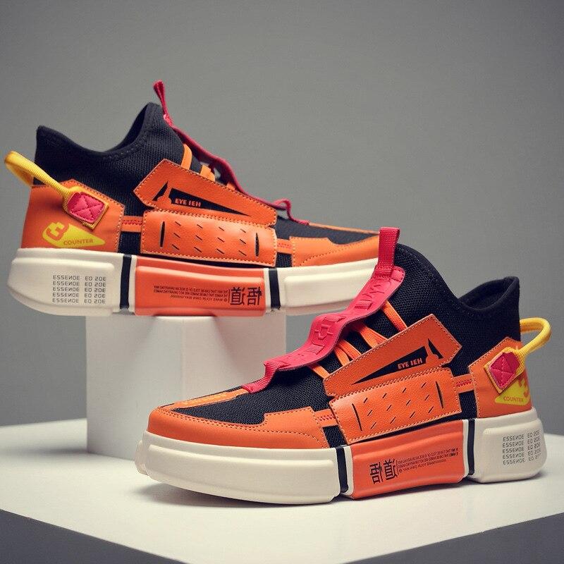 Мужская обувь в винтажном стиле Kanye West, сетчатый светильник, дышащая повседневная обувь, Tenis Zapatos Hombre, 2019