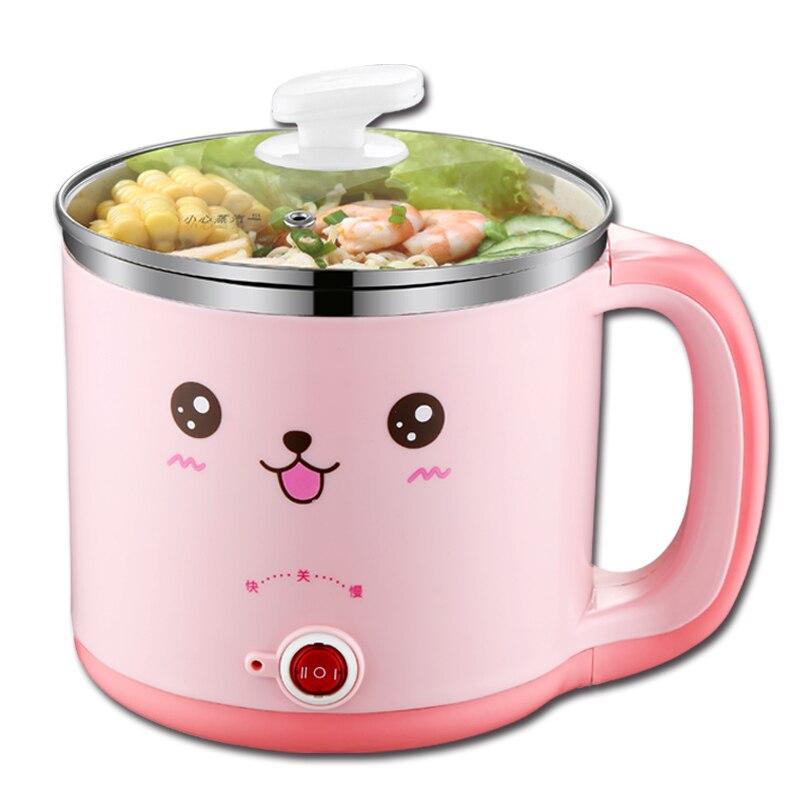 Portable Electric Multi Cooker with Steamer Mini Non-stick Frying Pan Egg Boiler Hot Pot Hotpot Porridge Noodle Cooker