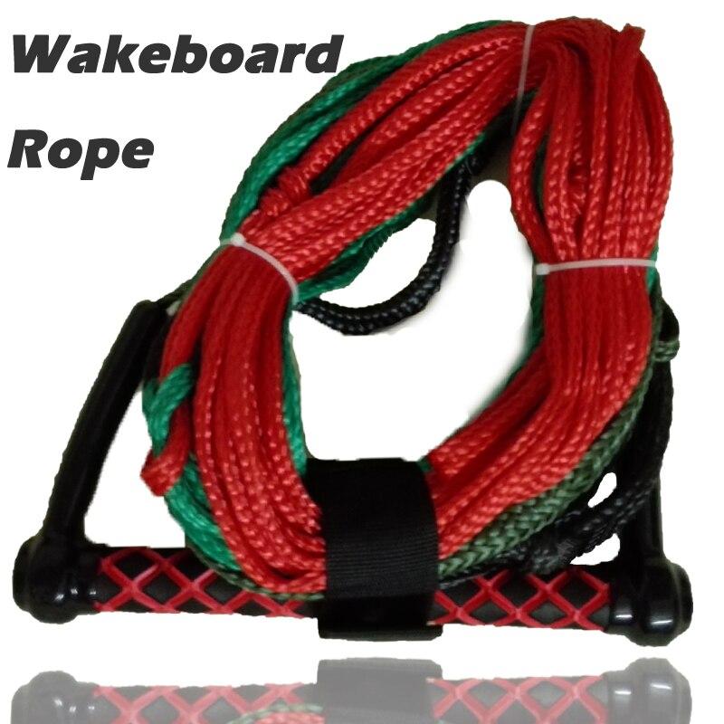 Cuerda para esquí acuático, correa para tabla de Wakeboard, correa para esquiar con agua, cuerda para tabla de Wakesurf con tejido, 1600lbs 750-900 pulgadas de longitud